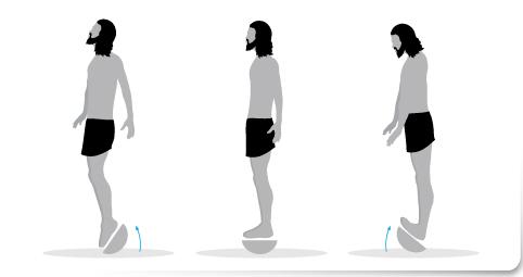 Plan de transición, Ejercicio 1 plataforma inestable correr descalzo minimalista
