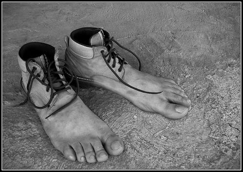 zapato minimalista o descalzos