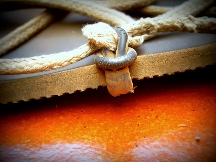 Detalle desgaste Huarache Pies Sucios Simna