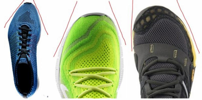 tipos de punteras zapatillas deportivas