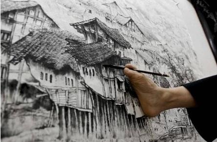 pintor-sin-brazos el pie cerebro