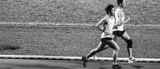 sobrezancada en running